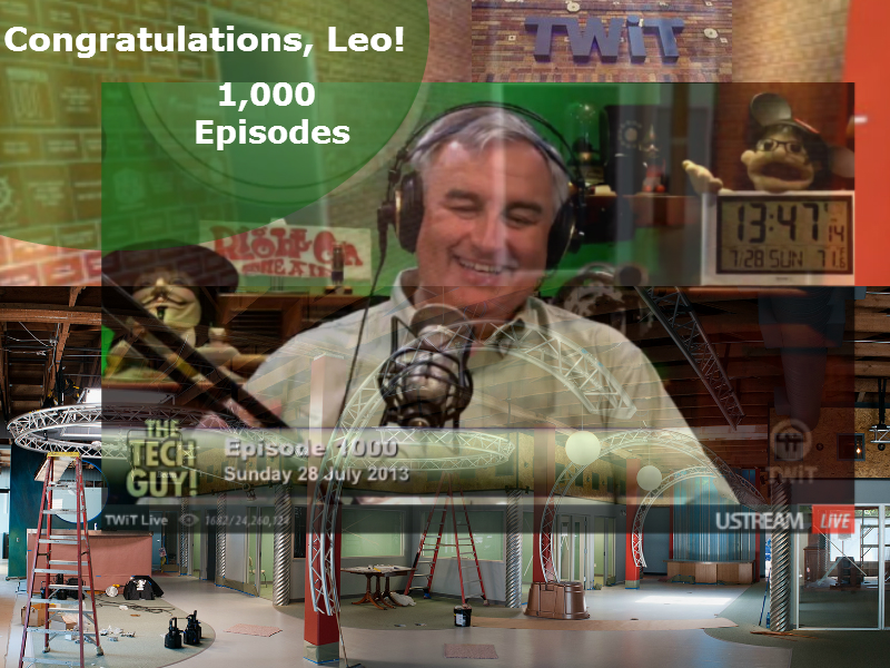 Leo Laporte hosting his 1,000th episode of The Tech Guy show
