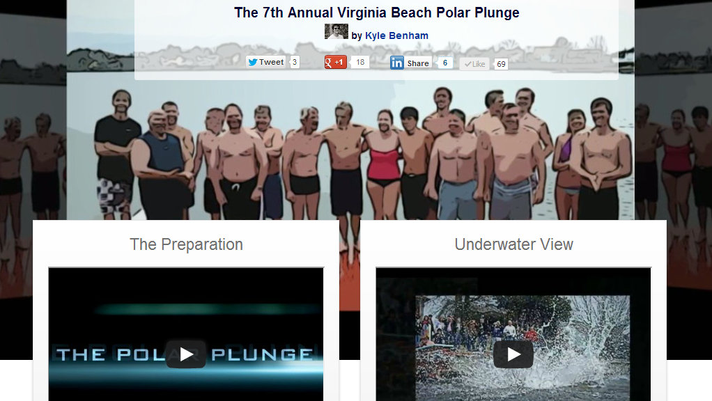 The Polar Plunge by A Modern Website
