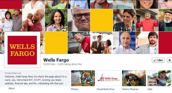 wells fargo facebook page